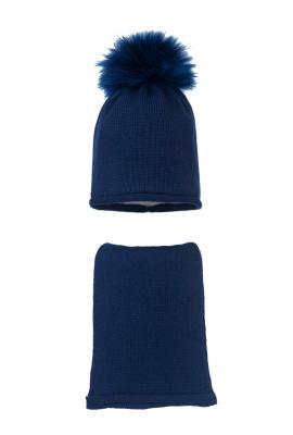 Комплект (шапка и шарф) HATTY (54 см) Темно-синий (9/10)