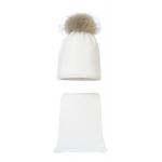 Комплект (шапка и шарф) HATTY (54 см) Белый (9/1)