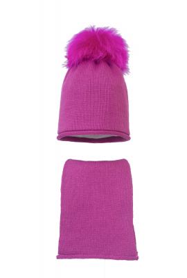 Комплект (шапка и шарф) HATTY (54 см) Фуксия (9/14)