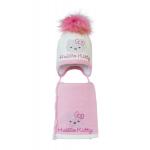 Комплект (шапка и шарф) HATTY Hello Kitty розовая (50 см) Молочный с розовым (3/2-4-1р)