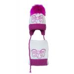 Комплект (шапка и шарф) HATTY Бант малиновый (48 см) Белый с фуксией (4б.ш./1-14-11м)