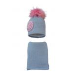 Комплект (шапка и шарф) HATTY Цветок (54 см) Ангора (10/5-1ц)