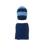 Комплект (шапка и шарф) HATTY (54 см) Темно-синий с синим светлым меланжем (1мкп/10-11)